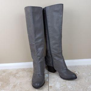 EUC Fergalicious Lexy Harness Knee High Boots, 9M